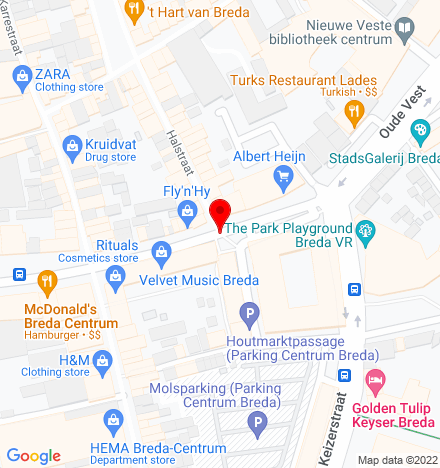 Google Map of Houtmarkt 29-31 4811 JC Breda