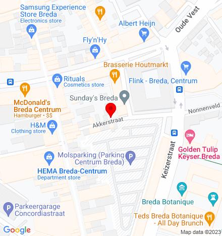 Google Map of Houtmarkt 37 4811 JC Breda
