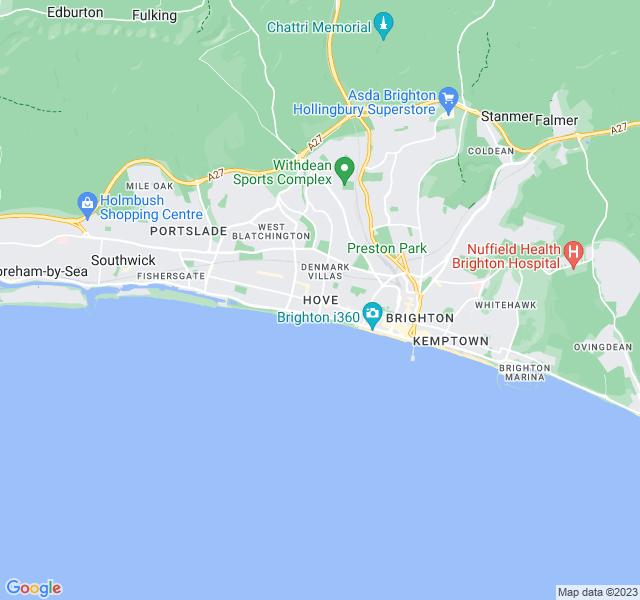 Website Designer Hove Google map of location