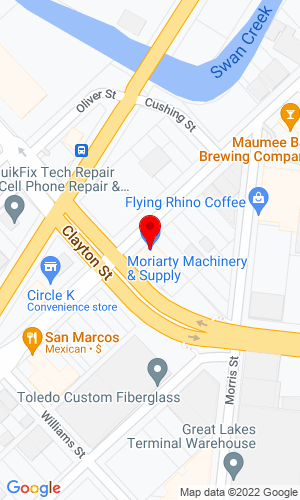 Google Map of Howard T Moriarty Company 143 Broadway, Toledo, OH, 43602