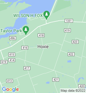 Hoxie TX Map