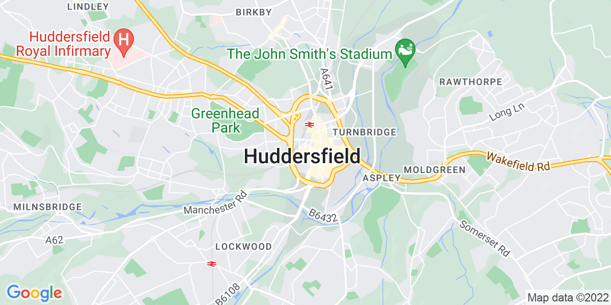 Map: Practice Nurse position in Huddersfield