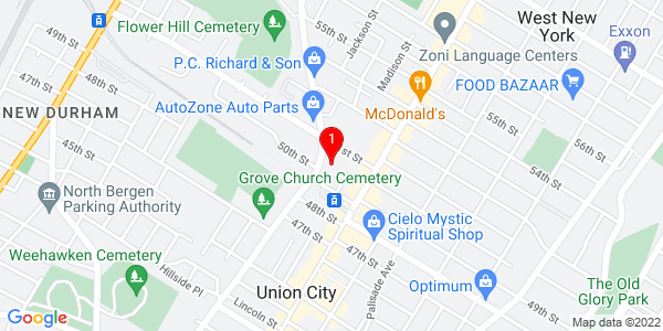 Google Map of Hudson Dental Center West New York