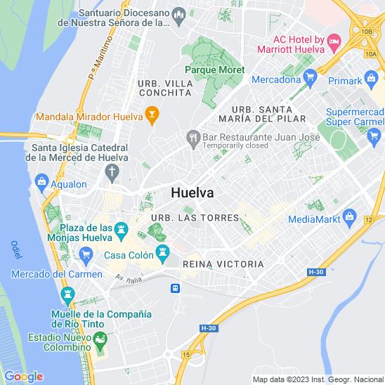Mapa redondo Huelva