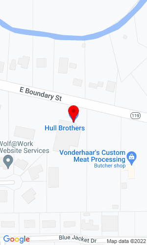 Google Map of Hull Brothers Inc. 520 East Boundry Street, Fort Recovery, OH, 45846