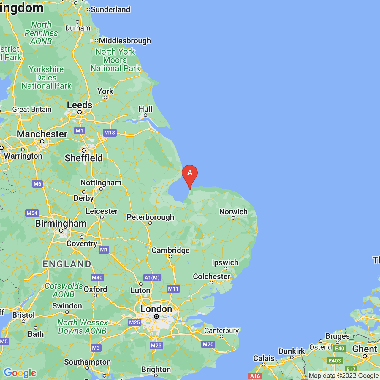 Hunstanton, England Map