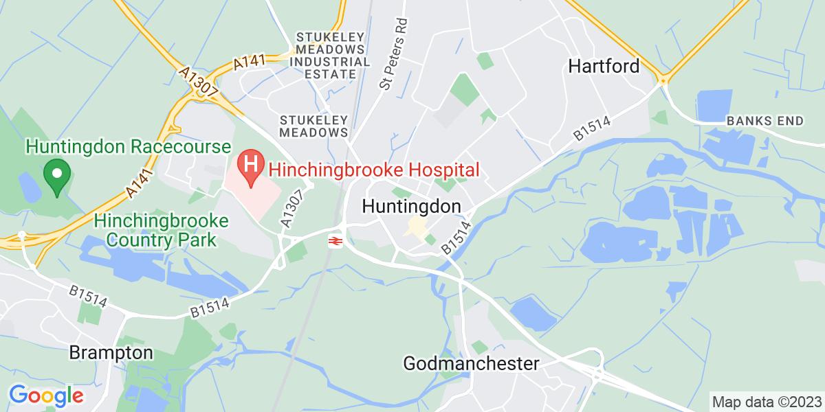 Map: Process Lead Engineer job role in Huntingdon