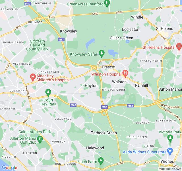 Website Designer Huyton Google map of location