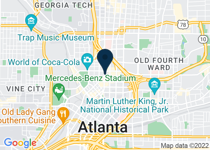 Map of Hyatt-Regency Atlanta, Atlanta, GA, United States