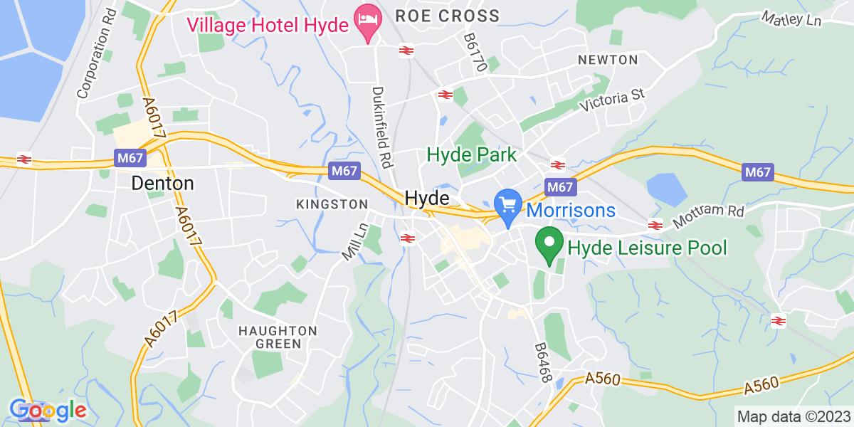 Map: Night Shift HGV Technician  Vacancy -  job in Hyde