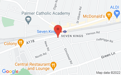 Map of Seven Kings Health Centre