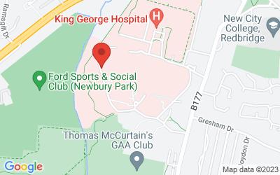 Map of Goodmayes Hospital (Barley Court)