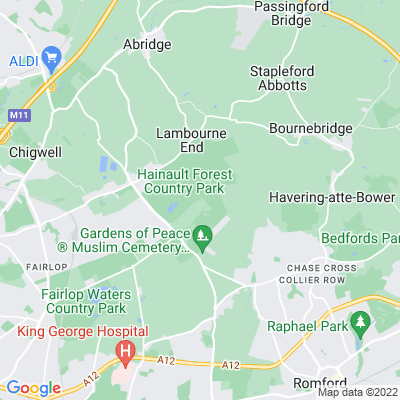 Hainault Forest Country Park Location