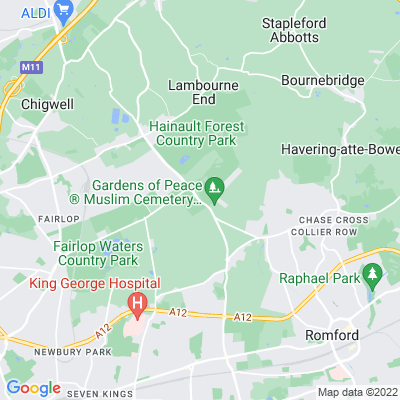 Hainault Forest Golf Course Location