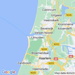 Werkgebied van onze bestrijder in IJmuiden