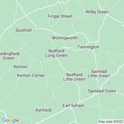 Bedfield Hall Location