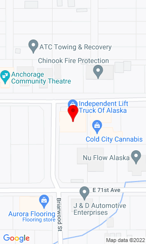 Google Map of Independent Lift Truck of Alaska 1200 E 70th Ave, Anchorage, AK, 99518