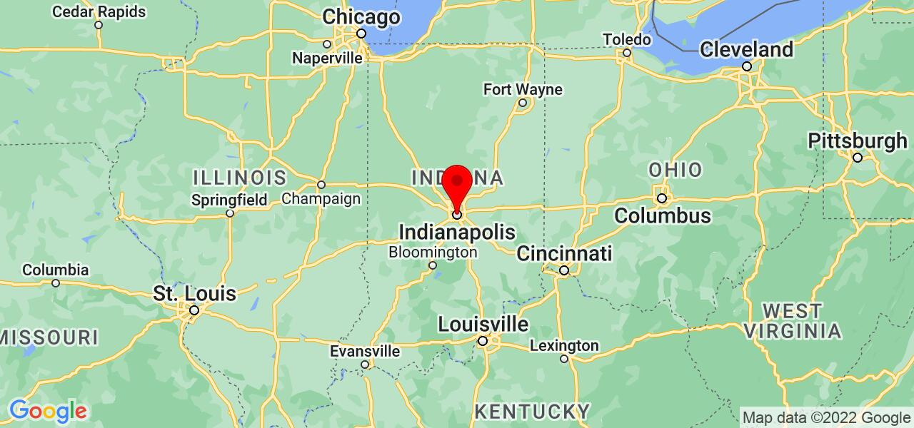 Google Map of Indianapolis,IN