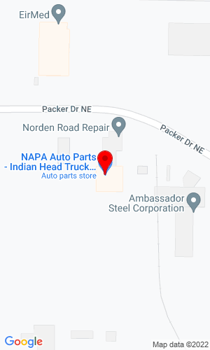 Google Map of Indianhead Truck Equipment 5310 Packer Drive, 54751, WI,