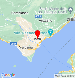 Google Map of Intra, Lombardy, Italy