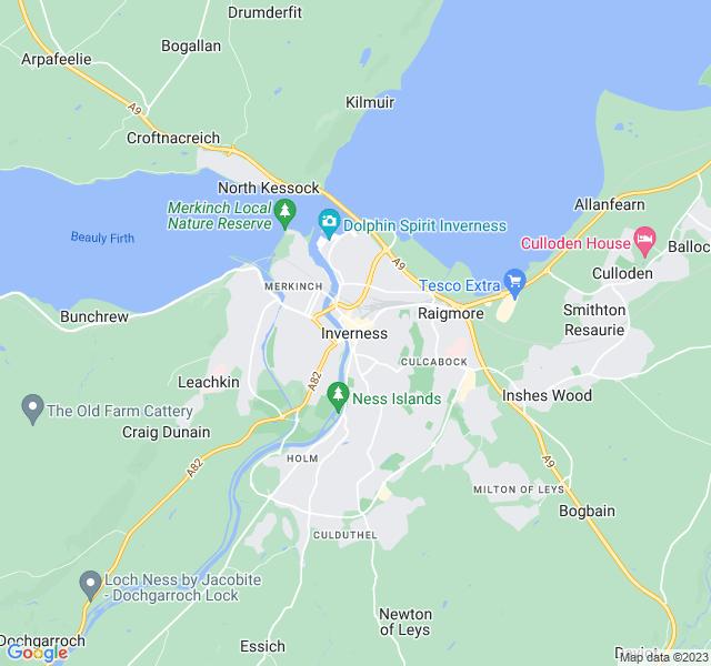 Website Designer Inverness Google map of location