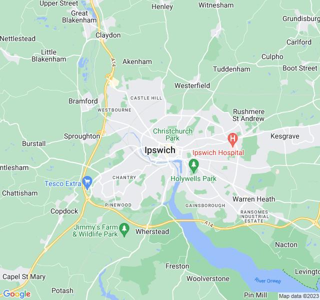 Website Designer Ipswich Google map of location