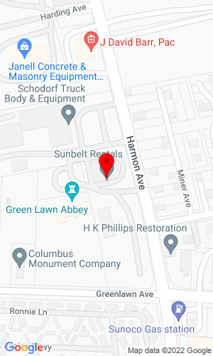 Google Map of Iron Equipment Rental (IRent) 915 Harmon Avenue, Columbus, OH, 43223,