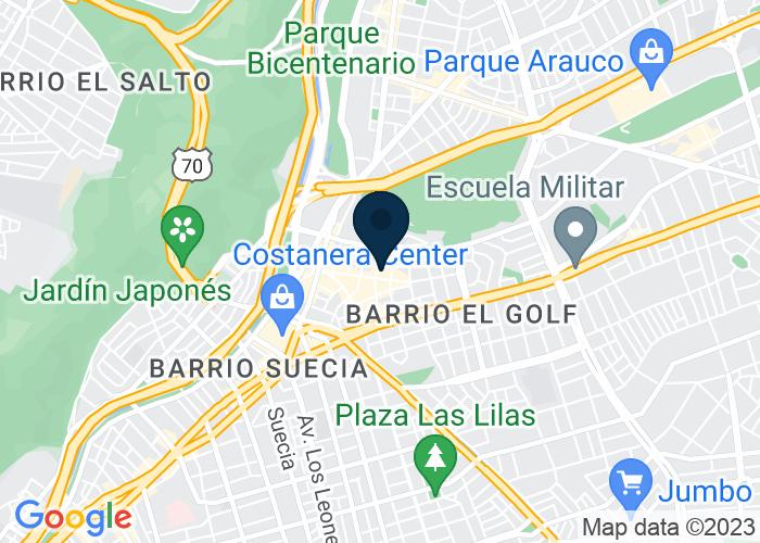 Map of Isidora Goyenechea 3000, Las Condes, Santiago, Chile