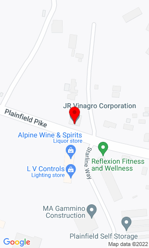 Google Map of J.R.Vinagro Corporation 2208 Plainfield Pike, Johnson, RI, 02919,