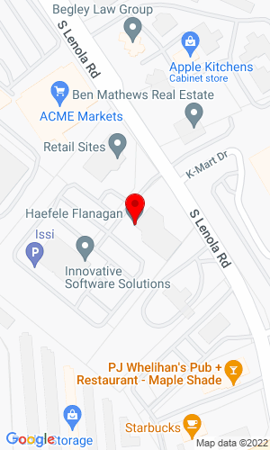 Google Map of JJ Kane Auctioneers 1000 Lenola Road, Building 1, Suite 203, Maple Shade, NJ, 08052