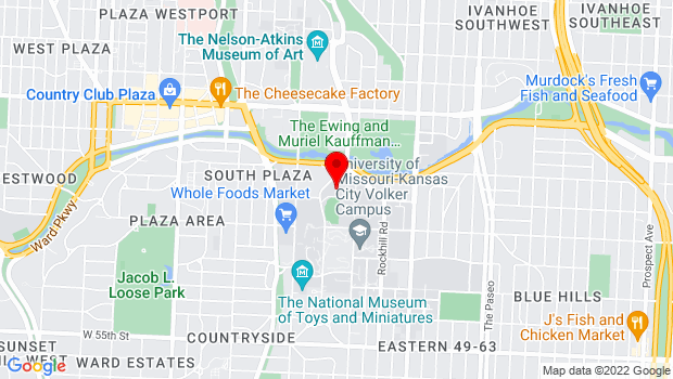 Google Map of James C. Olson Performing Arts Center, Kansas City, MO 64110