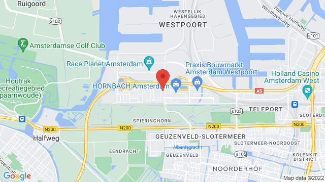 Amsterdam op Google Maps