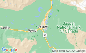 Map of Jasper/Snaring River Campground