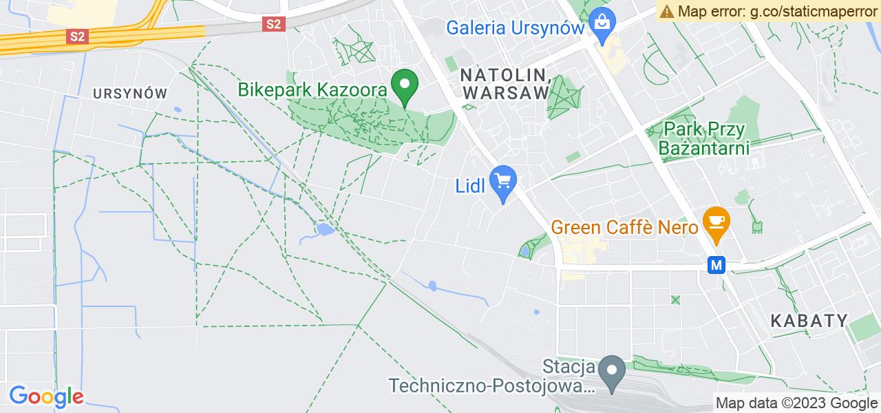 Jedna z ulic w Jaworowej – Warszawska i mapa dostępnych punktów wysyłki uszkodzonej turbiny do autoryzowanego serwisu regeneracji