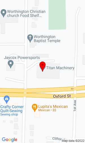 Google Map of Jaycox Implement, Inc 1909 East Oxford Street, Worthington, MN, 56187-0846