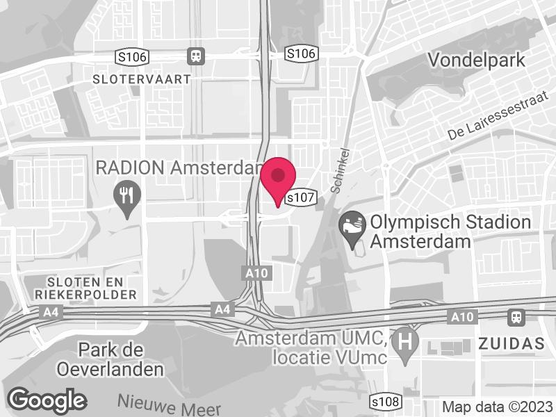 Google Map of Jellinek High Care Detox Klaprozenweg 111 1033 NN Amsterdam