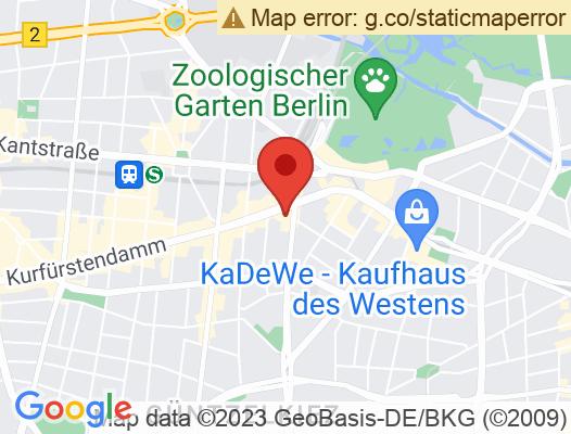 Google Map of Joachimsthalerstrasse 10 10719 Berlin