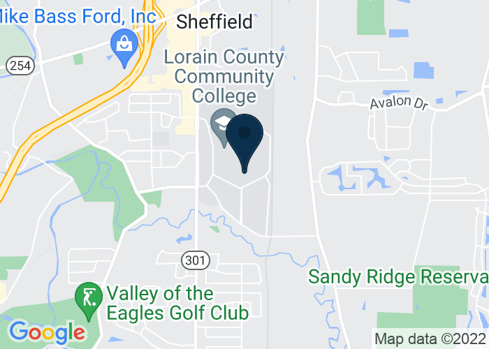 Map of John A. Spitzer Center, Elyria, OH, United States