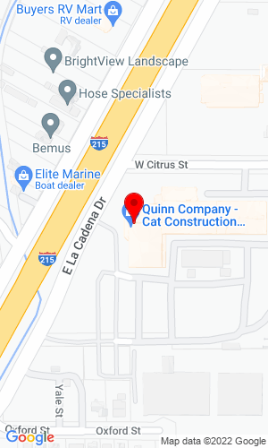 Google Map of Johnson Machinery 800 E. La Cedena Drive, Riverside, CA, 92501