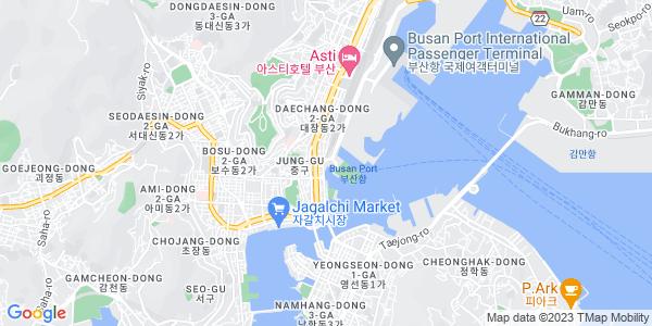 Google Map of JungAng-Dong%2C+Jung-Gu%2C+Busan%2C+Korea