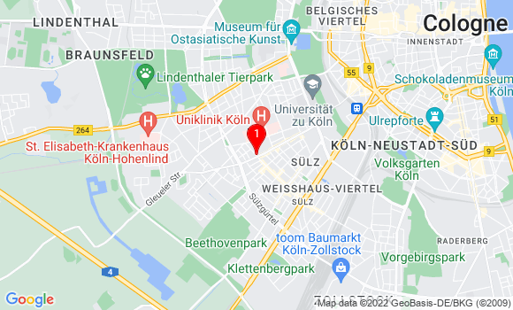 Google Map von Köln, Sülzburgstr. 233