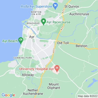 Castlehill, Ayr Location