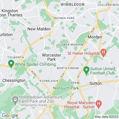 Cuddington Cemetery and St Phillip's Churchyard Location
