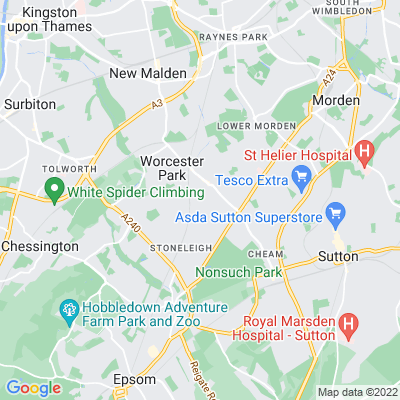 Cuddington Recreation Ground Location