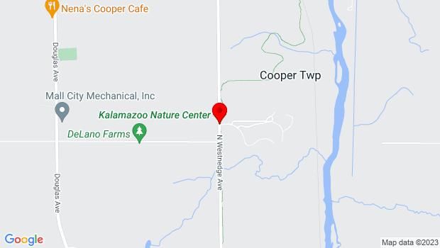 Google Map of Kalamazoo Nature Center, 7000 N Westnedge Ave, Kalamazoo, MI 49009