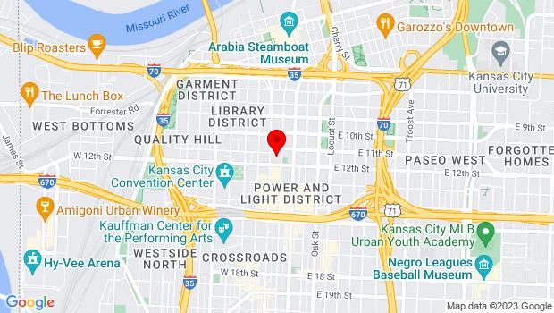 Google Map of Kansas City Live! Block, Kansas City, MO 64106