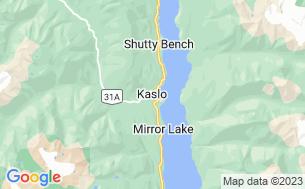 Map of Mirror Lake Campground (BC)