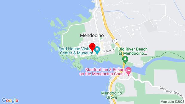 Google Map of Kasten x Albion Sts, Mendocino, Mendocino, CA 95460