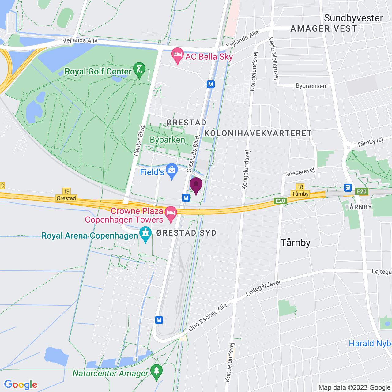 Karta över Kay Fiskers Plads 9, 5