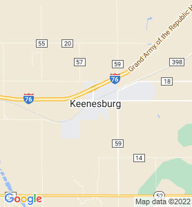 Keenesburg CO Map